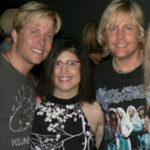 Catching up with Gunnar & Matthew Nelson backstage Streetsboro Festival Friday August 1, 2008 (Streetsboro, OH) Photography: Tom Hart